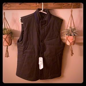 Brooks Brothers herringbone puffer vest